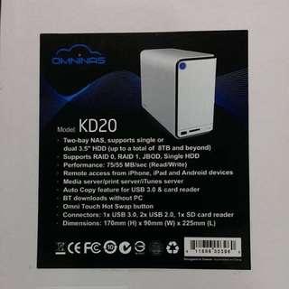浩鑫KD-20網路磁碟機 NAS