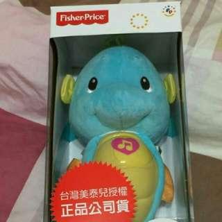 [全新] 費雪牌Fisher Price] 聲光 安撫 粉藍 小海馬
