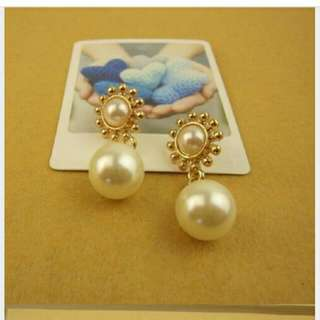👍全新 仿珍珠典雅大方耳環👙