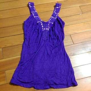 紫色背心上衣