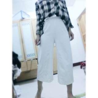 New高腰綁帶寬褲