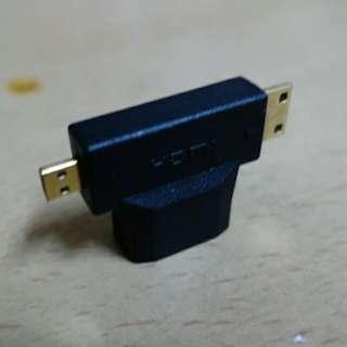 4k2k Mini/Micro hdmi轉接頭