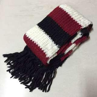 (已預定) 紅白黑3色圍巾