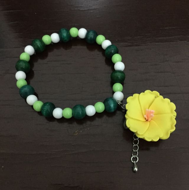 綠珠黃花鬆緊手鍊