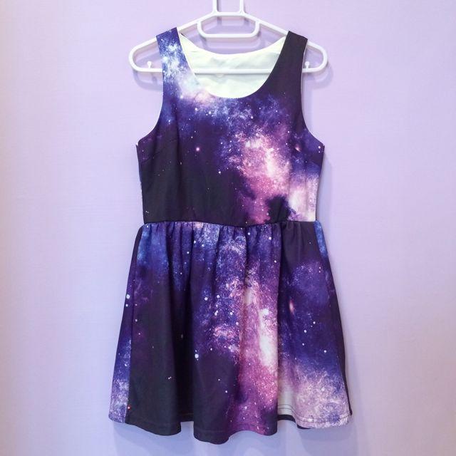 紫色星空洋裝💜