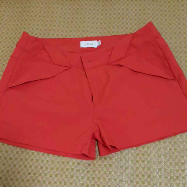 橘紅色西裝褲