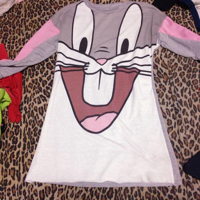 兔子長袖長版衣