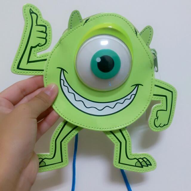 (待面交) ✔日本代購 日本迪士尼 怪獸大學 麥克華斯基 大眼仔 票卡夾+零錢包
