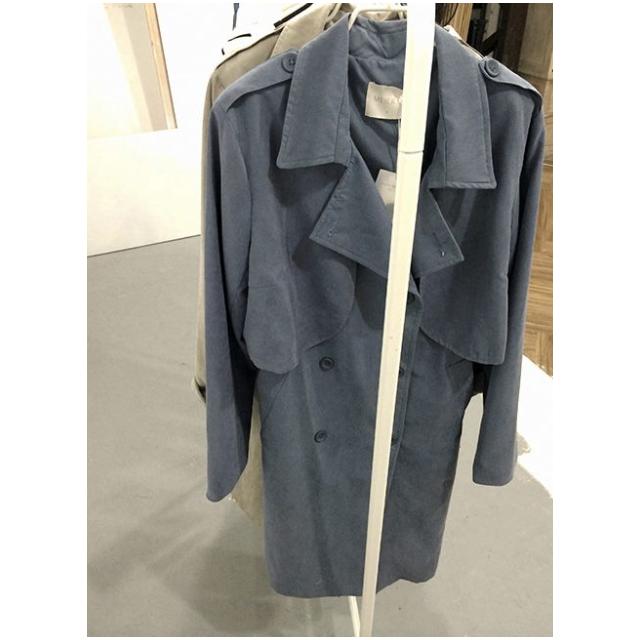 (售出)[二手] MEIER.Q韓系時尚兩穿風衣背心外套 灰藍色 S 含運