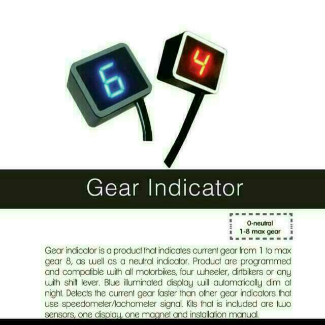 Gear Indicator (Motorcycle), Cars on Carousell