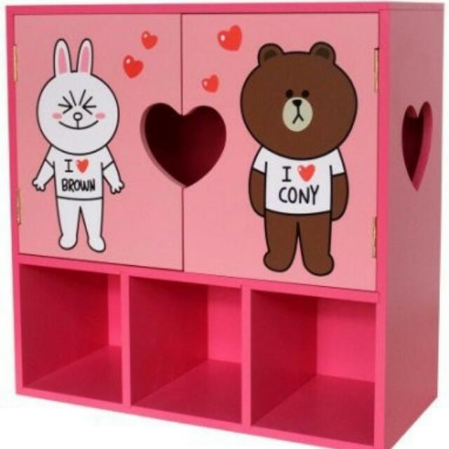 LINE 熊大&兔兔 Brown&Cony 雙門收納櫃