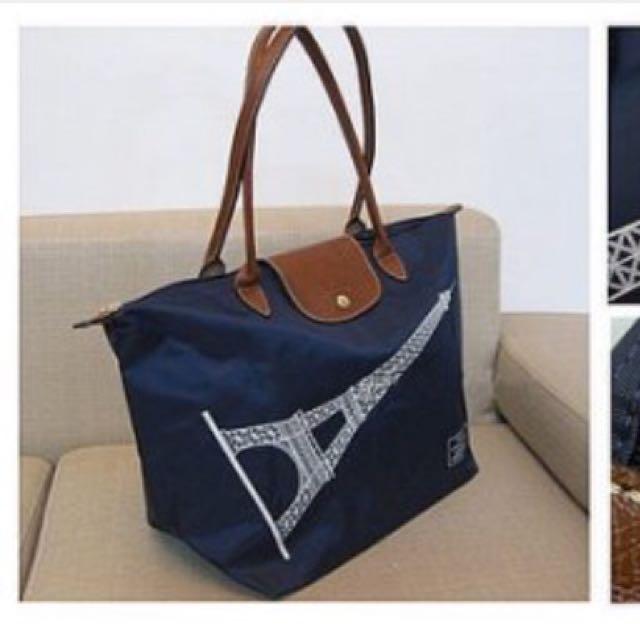 Longchamp  長把 深藍色