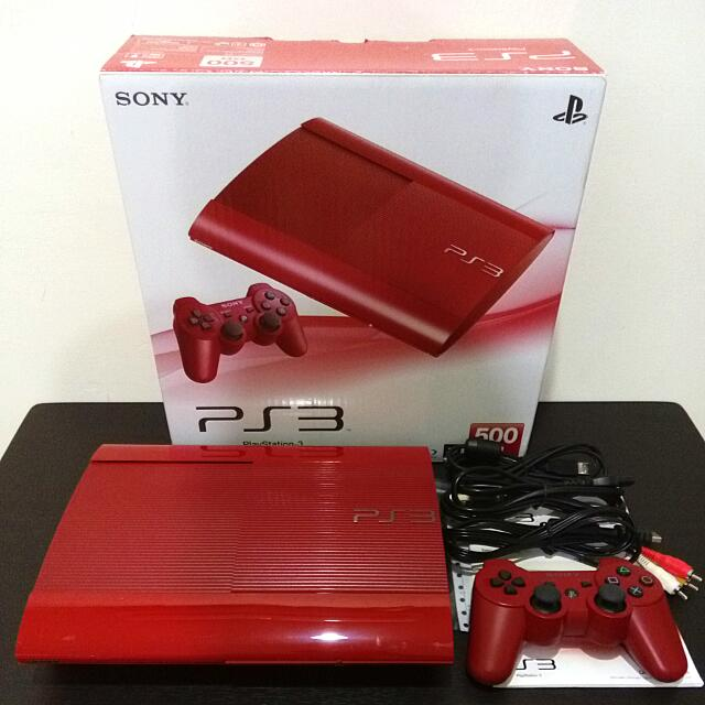 PS3 4007C 紅色 500G