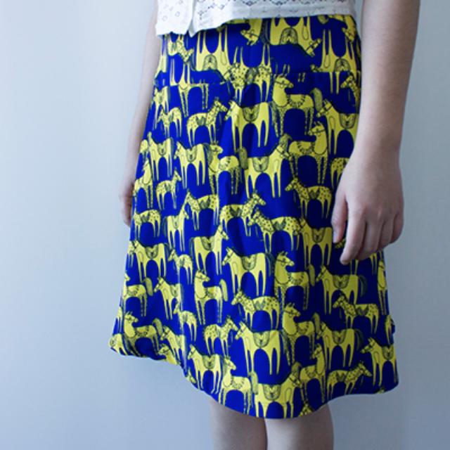 Quick Brown Fox Pony Print Skirt