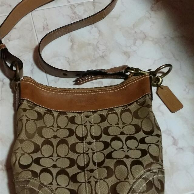 Vintage Coach Sling Bag, Luxury on Carousell