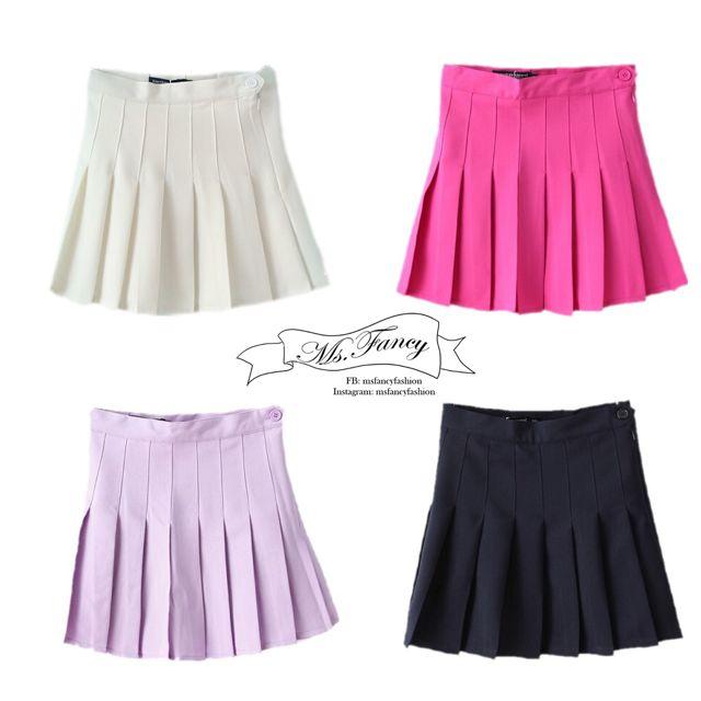 日雜Zipper/Vivi百搭款 American Apparel 高腰學院風網球裙 百褶裙