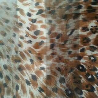 Animal Print Square Scarf / Hijab