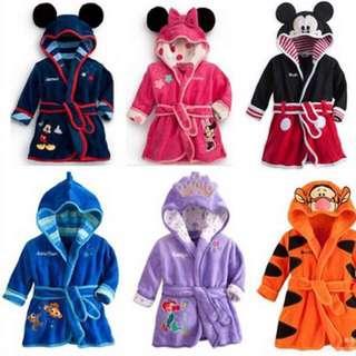 男童女童浴袍 /卡通浴衣/家居睡袍