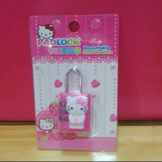 【LAST 2 PIECES】Padlock Number Hello Kitty Pink
