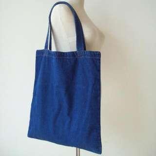 INSTOCK! Dark Blue Denim Tote Bag