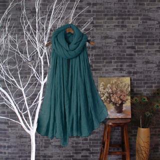 含運/飄飄質感柔軟超大 圍巾 披肩-綠色系