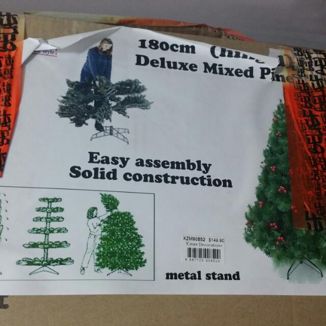 180cm (Hinged) Christmas Tree + Decorations (Reserved)