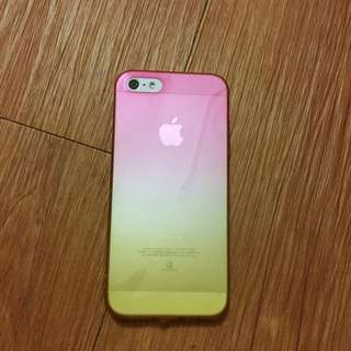 iPhone 5/5s 粉橘漸層 手機殼
