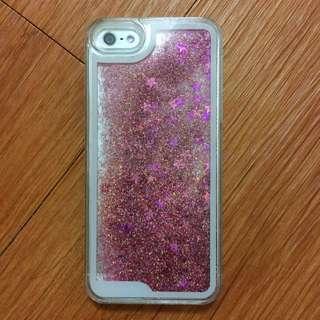 iPhone 5/5s 粉紅流沙殼✨