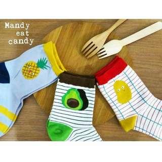 熱帶水果🍍 剩一雙綠綠酪梨🍐 可愛日韓棉襪