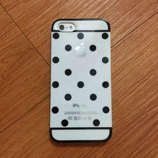 iPhone 5/5s 黑白點點手機殼⚪️⚫️
