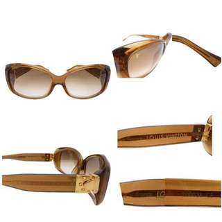 Louis Vuitton S Lock Sunglasses Glitter Brown Gradation Lens Z0003E