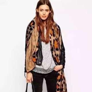 2015年秋裝歐美款正韓豹紋圍巾