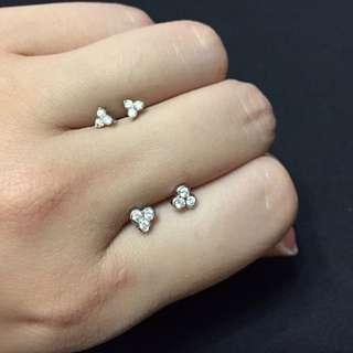 簡約鑽石耳環💎(包鑽、爪鑲)