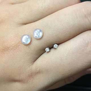 星綴鑽石耳環💎一對8分