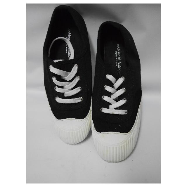 (保留)正韓製黑色帆布鞋