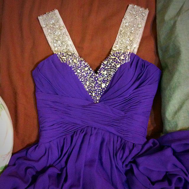 紫色 拖尾長禮服.婚紗(保留中)