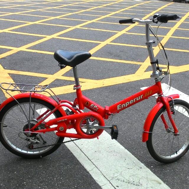 紅色小摺 腳踏車