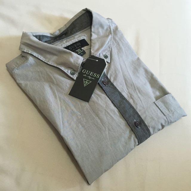 全新 美國🇺🇸 Guess 男生長袖襯衫上衣 Size: L
