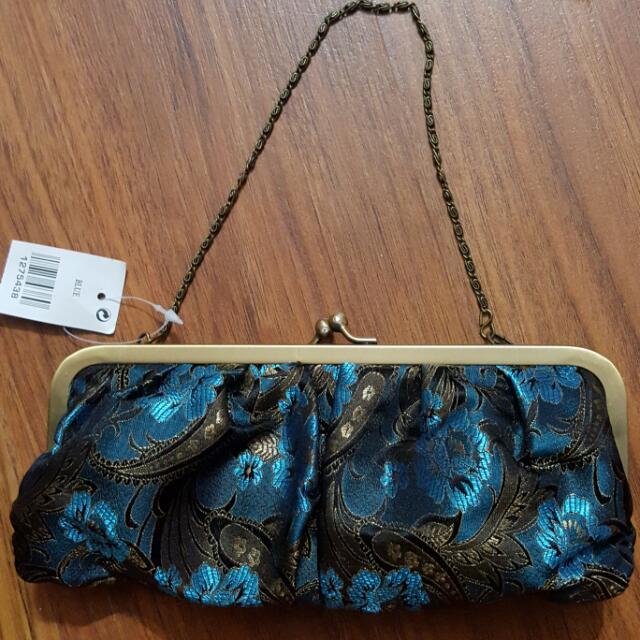 BN Blue clutch bag