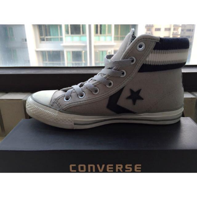🆕Converse紡織布帆布鞋/灰24號(9%)$600