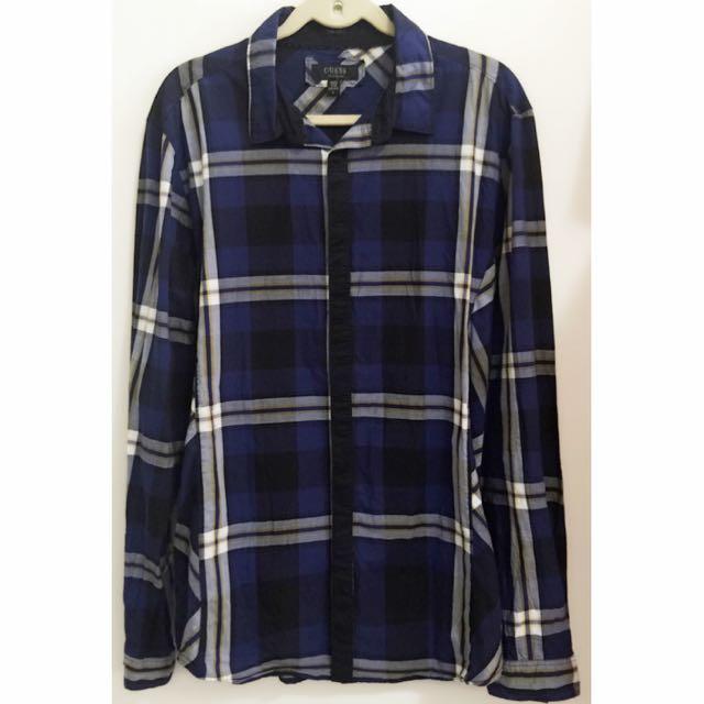 🇺🇸 美國 Guess 男生長袖襯衫上衣衣服 Size: L
