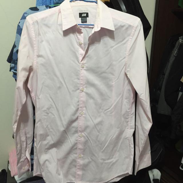 H&M 粉紅 襯衫