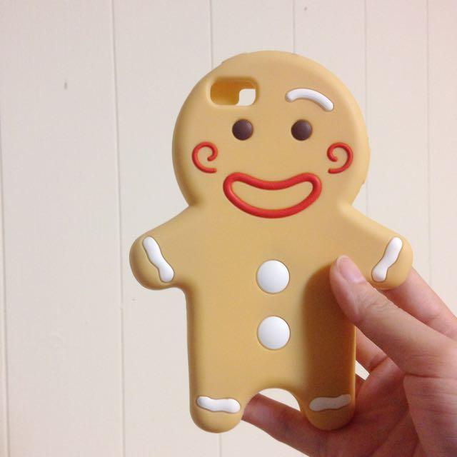 ❌[免運]薑餅人iphone5/5s 手機殼