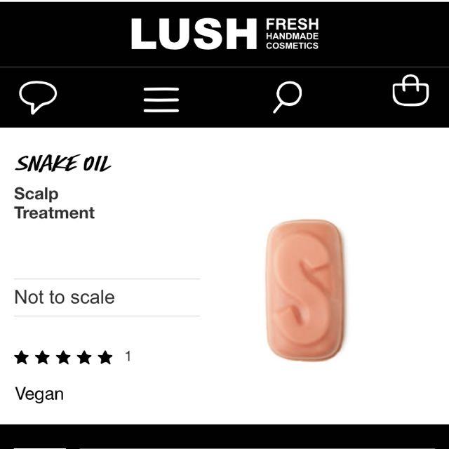 Lush Kitchen Exclusive! Snake Oil Scalp Treatment