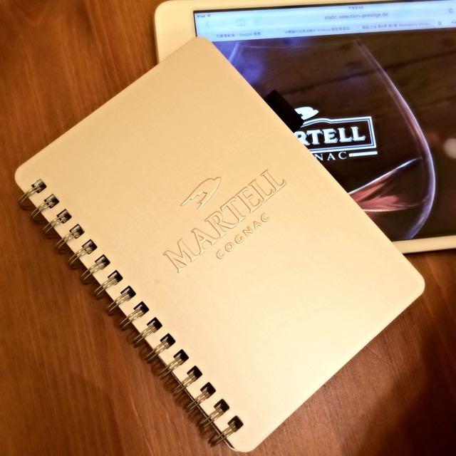 馬爹利MARTELL鋁製筆記本🍷