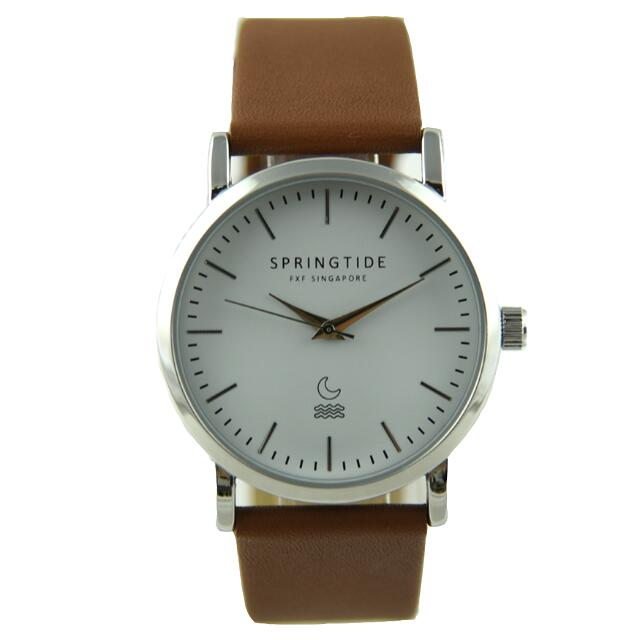 SPRINGTIDE ONE: Casual Leather Mens Watch