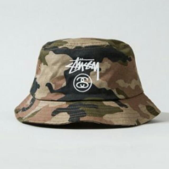 stussy stock lock bucket hat 漁夫帽 迷彩