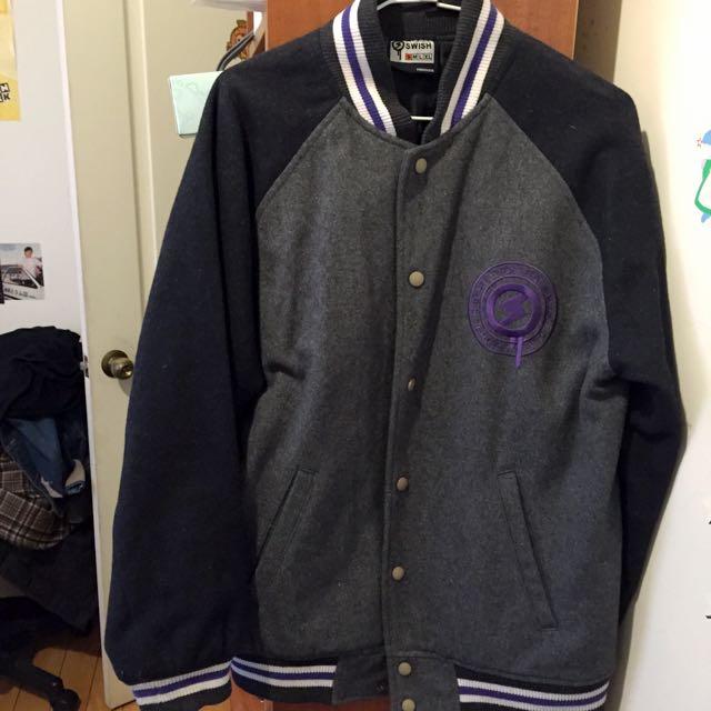 SWISH 夾克 棒球外套 灰色
