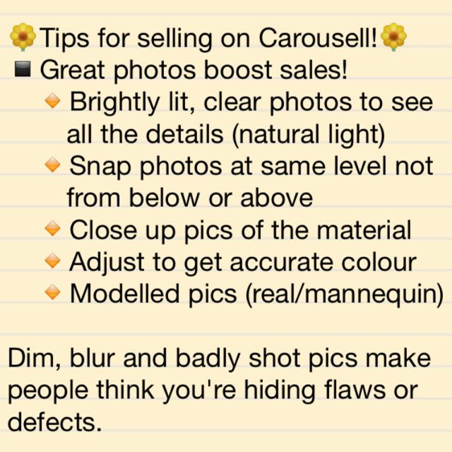 Tips For Selling On Carousell!