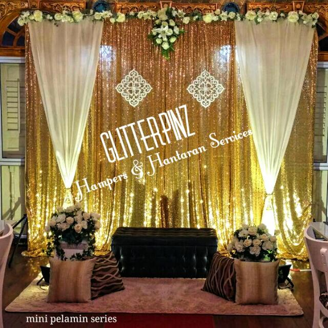 Wedding Mini Pelamin Weddung Dais Deco Decor Nikah Tunang Engagement Womens Fashion On Carousell